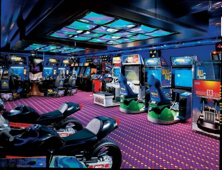 Carnival Cruises video arcade