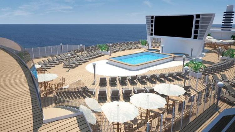 MSC Seaside Sunbathing area