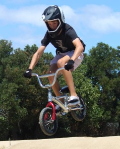 Ben built his first mini bike out of spare BMX parts.