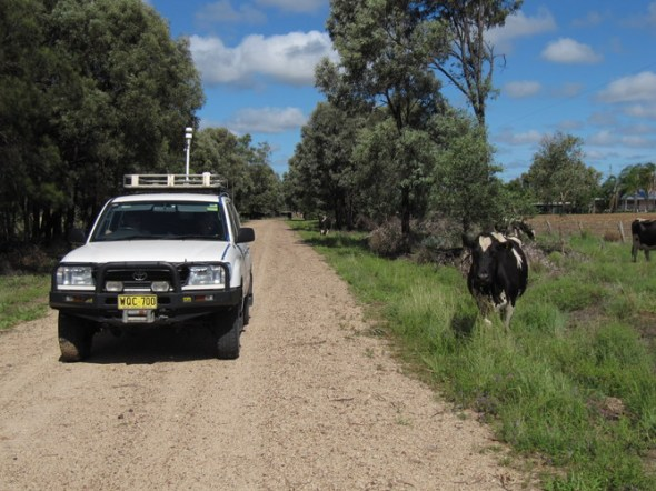The methane-detecting four-wheel-drive, measuring emissions around Queensland and NSW coal seam gas wells. Tests were also done upwind of each site to avoid cows or other methane sources skewing the results. CSIRO, CC BY-SA