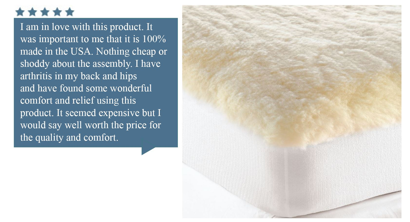 Wool Mattress Pad Reviews Cuddledown Product Review Spotlight Plush Wool Fleece Mattress