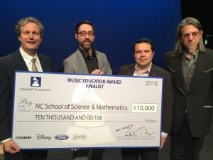 Phillips Riggs receiving 2016 Music Educator Award