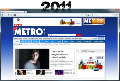 Metro.co.uk in 2011