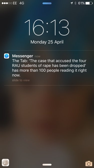 Messenger Push Notification