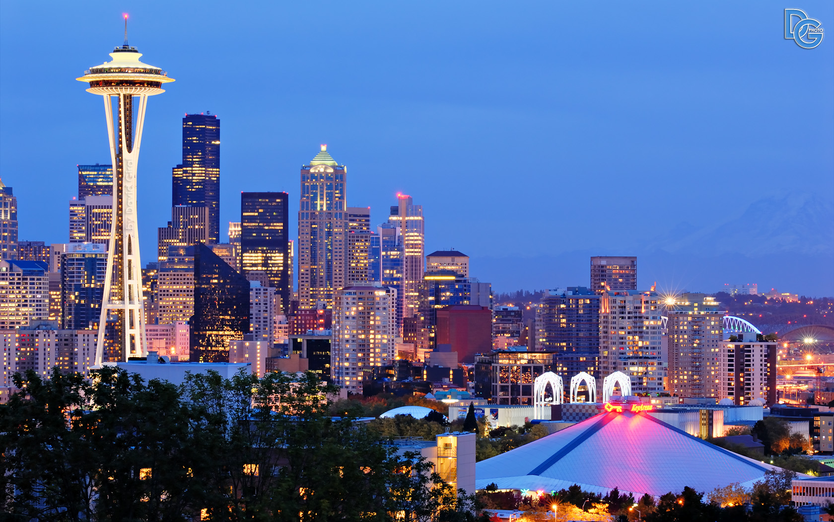 Seattle Washington In Fall City Night Wallpaper Landscape Photography Top 10 Photos Of 2009 David Giral