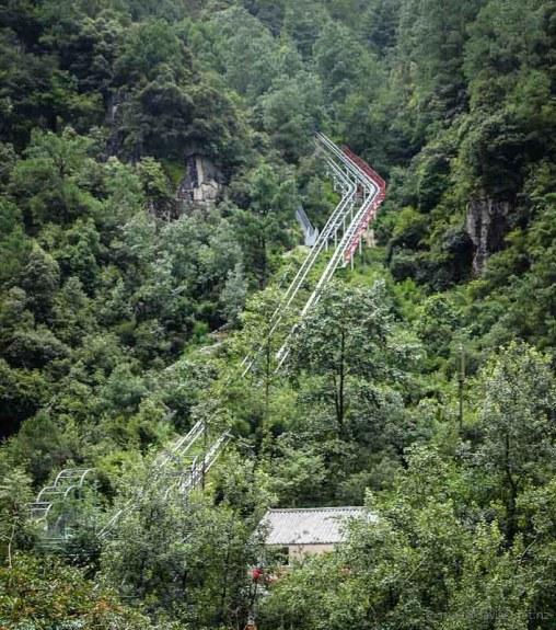 Funicular railway Mt Cangshan Dali