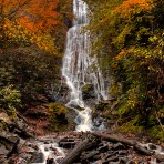 Early Autumn Mingo Falls 24 x 26 Gallery Wrap Canvas Premium Gloss