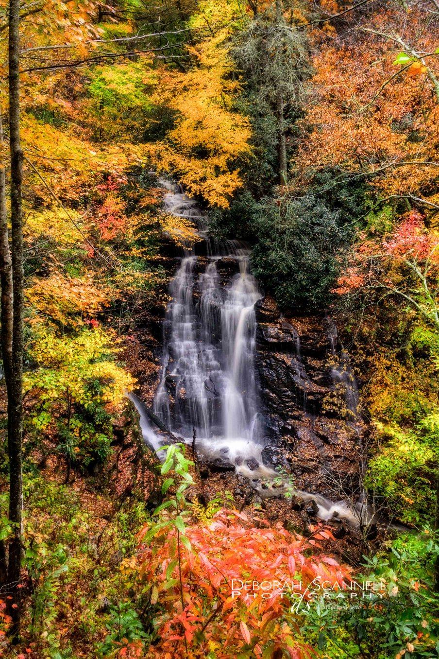 Soco Falls Autumn Day