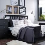 Ložnice v severském stylu, rám postele Hemnes, Ikea