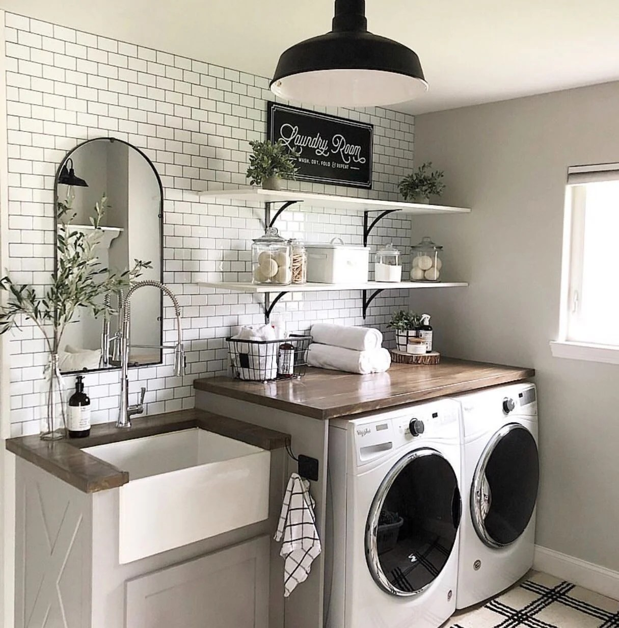 A Dream Laundry Room Makeover Decor Steals Blog