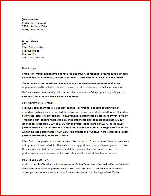 samples of business proposal samples of business proposal - proposal letter examples