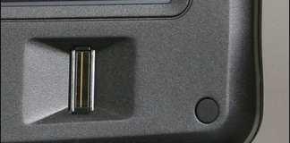 Lector de huellas digitales integrado en un portátil Gateway