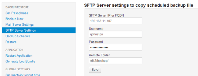 Server Sftp Backup Using Sftp And Other Appliance Manager Enhancements