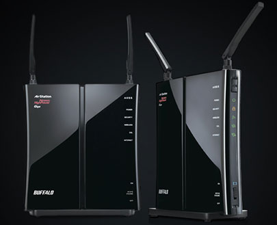 BUFFALO AirStation HighPower N450 Wireless Router Performa Tinggi