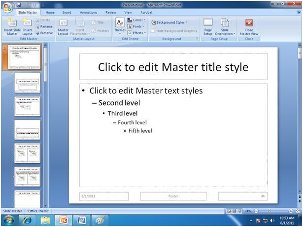 Microsoft PowerPoint Training - Slide Master in MS PowerPoint
