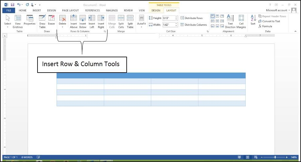 Table Tool Enhancements in Word 2013 - Microsoft Training IT - on word