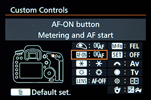 Canon 7D Mark II menu custom setting setup recommend tips tricks