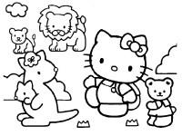 disegni da colorare hello kitty circo animali da colorare