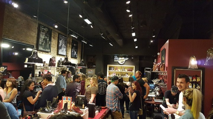 The Riot Fest pre-party in our Dr. Martens Wicker Park store, Chicago.
