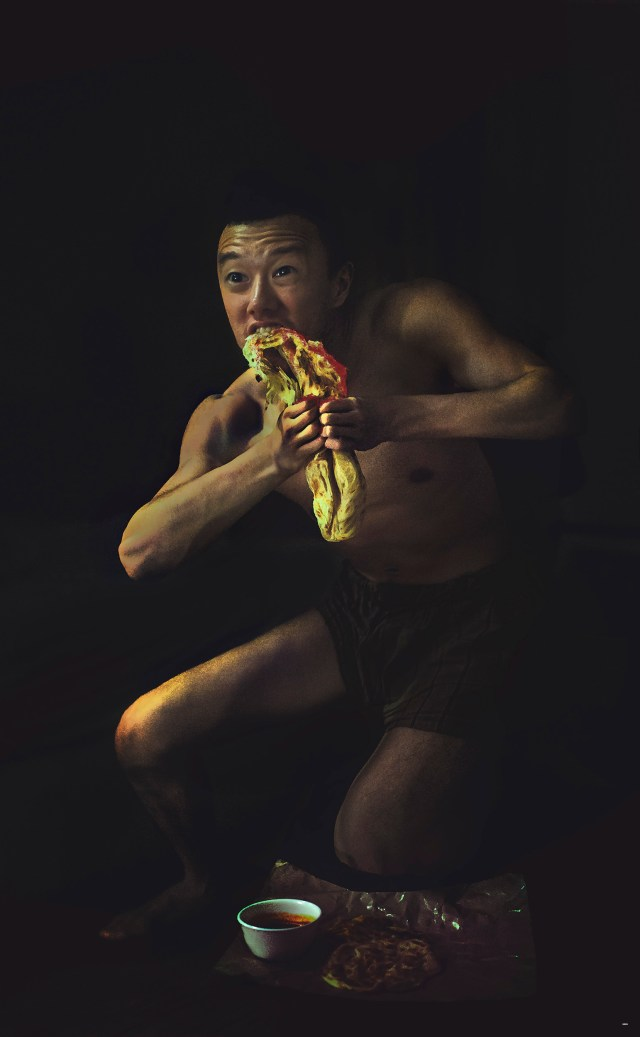 Saturn Devouring His Naan by Eugene Soh 2014