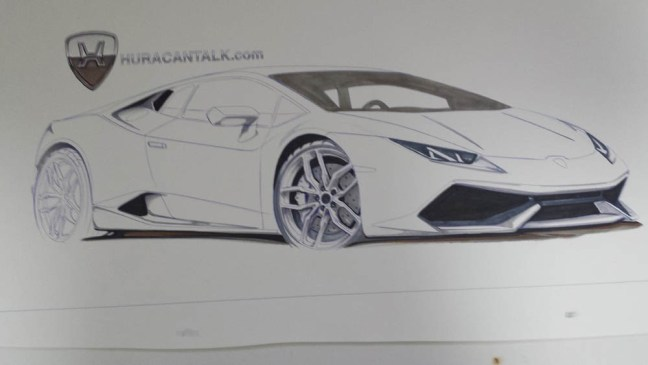 Lamborghini Huracan Drawing By Enes Canay For Huracantalk Com