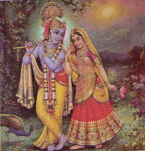 radha with krsna