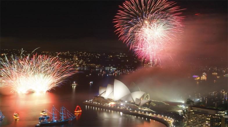 sydeny opera house in new year