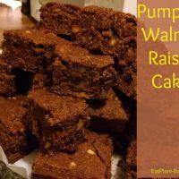 Pumpkin Walnut Raisin Cake
