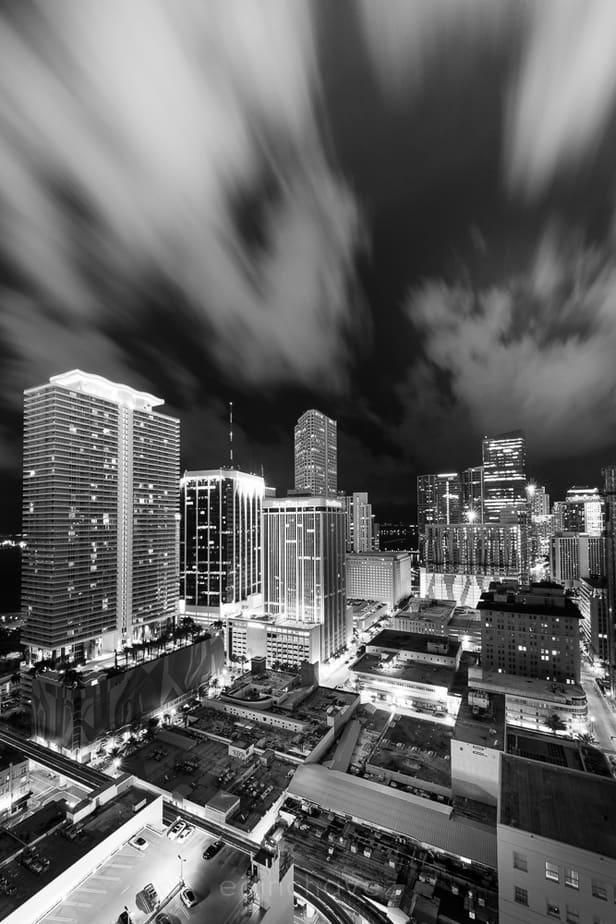 Miami Cityscape B&W  Lightroom tutorial and FREE preset