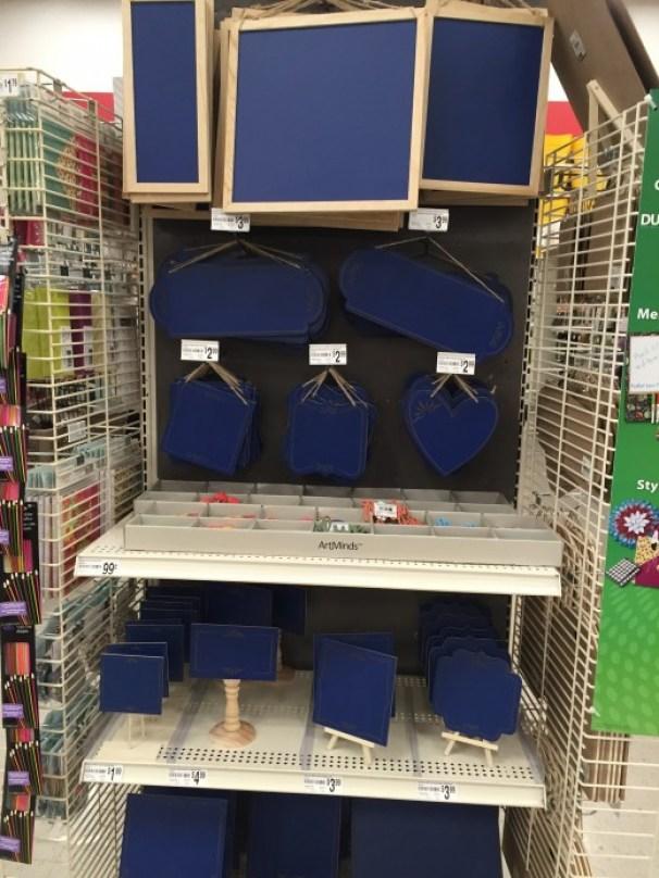 cobalt blue chalkboard signs