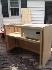 DIY Outdoor Bar with built in cooler