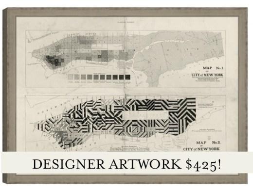 nyc vintage map print