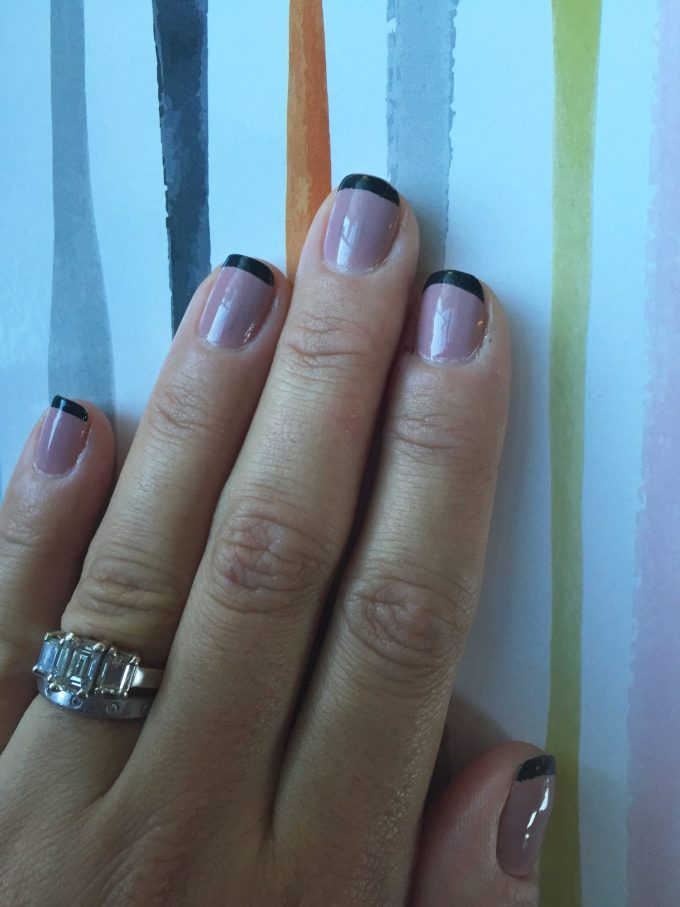 fall inspired french manicure