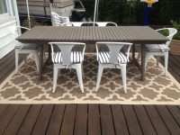 Patio Progress: Outdoor rug - Effortless Style Blog