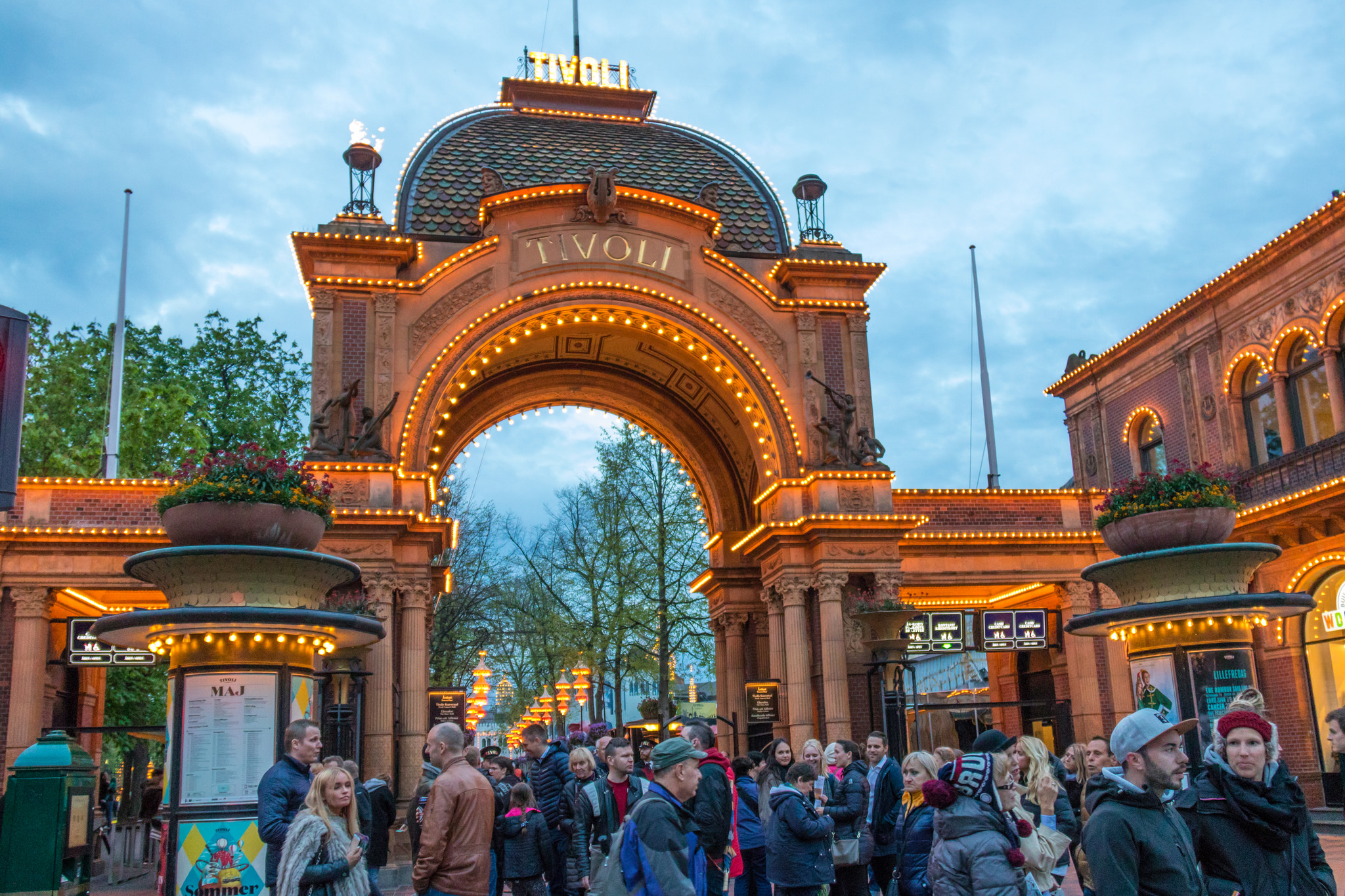 The Historic Tivoli Gardens In Copenhagen Ef Tours Blog