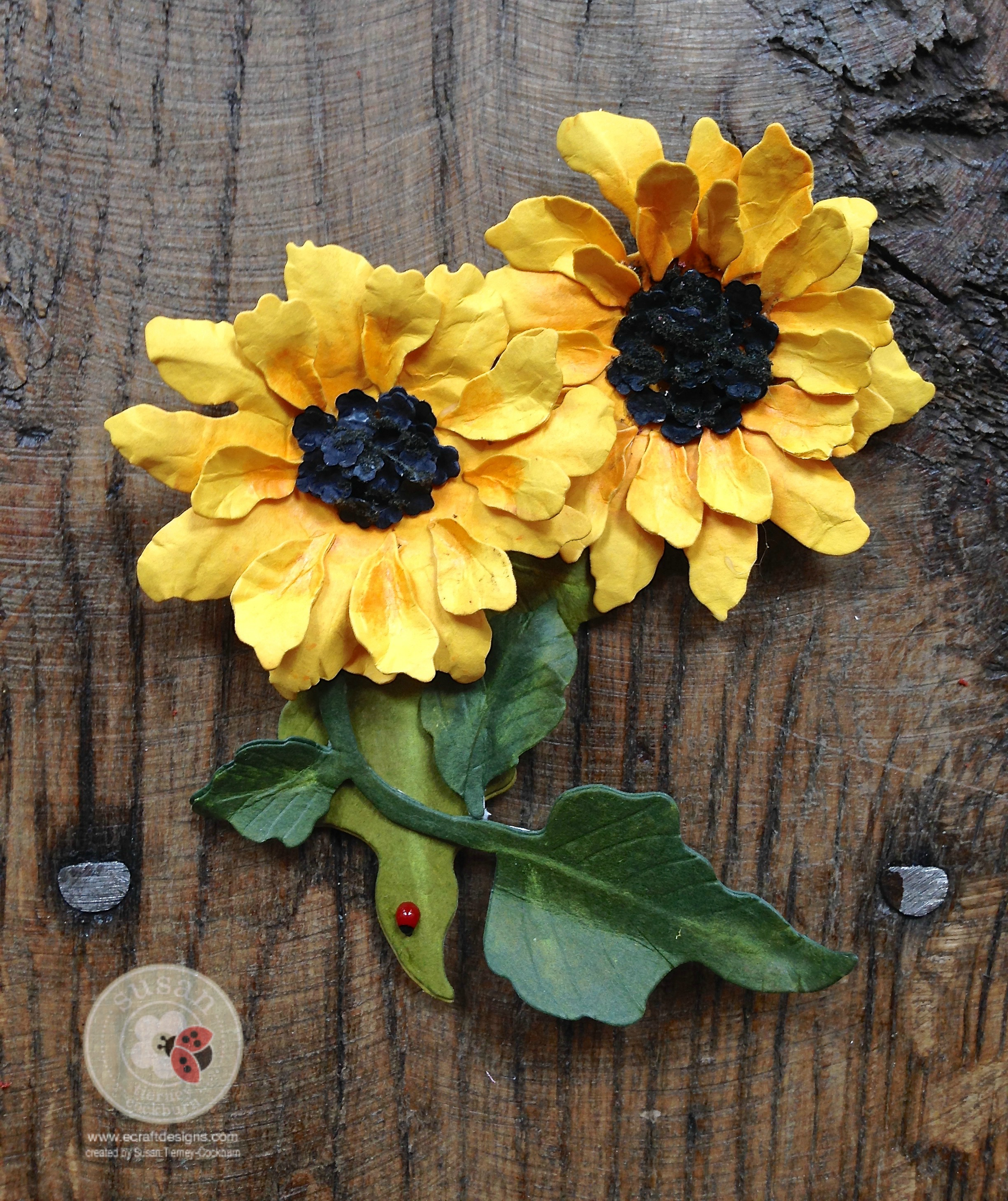 New video tutorial garden notes sunflower for Garden designs by elizabeth