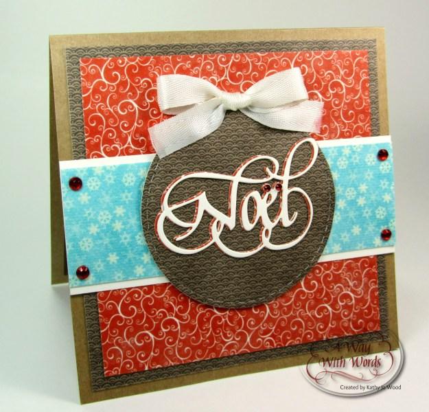 Elizabeth Craft Designs Suzanne Cannon Noel Christmas card Kathy Jo 1