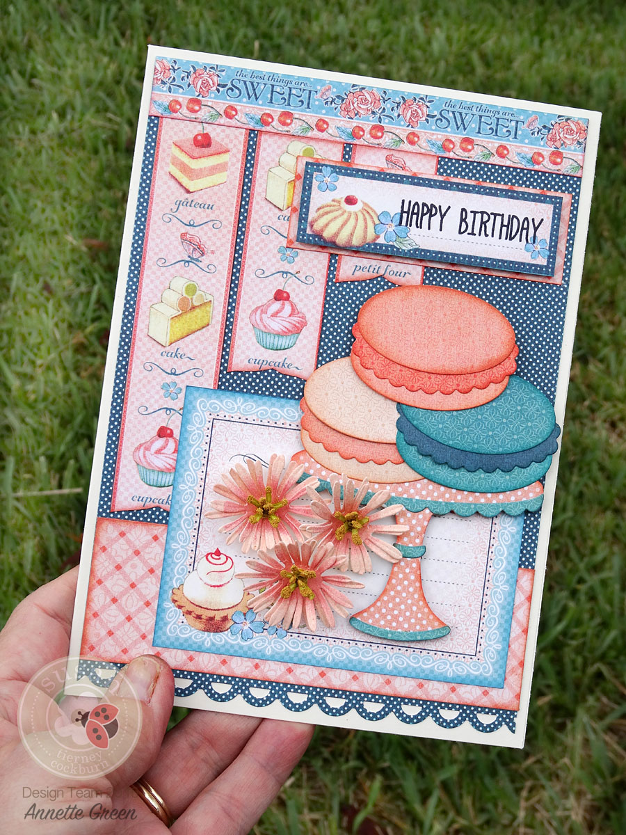 Macarons and Asters Birthday Card