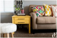 A Pop of Yellow (Living Room End Table DIY)