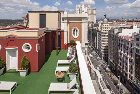 Increible vista del Roof Garden en el centro de Madrid