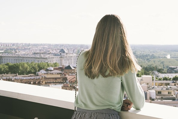 Vistas al Palacio Real desde el Roof Garden