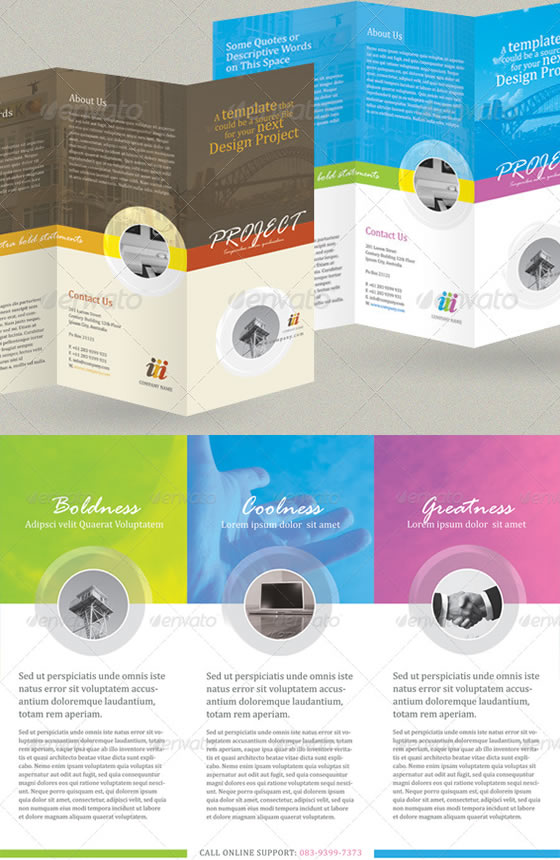 Free Tri-Fold Brochure Templates Senior Living Community - Tri - annual report cover page template