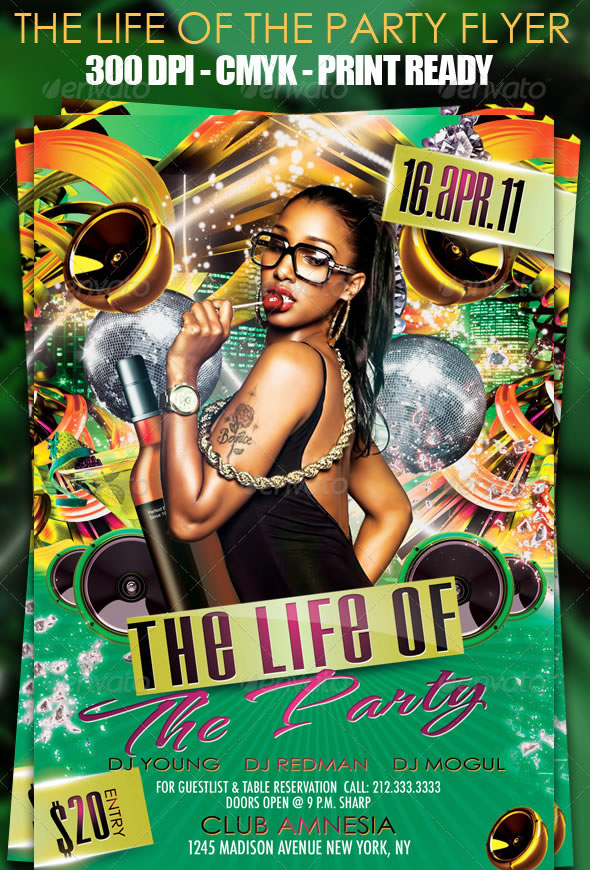 Mind Blowing Party Flyer Design Templates Entheos