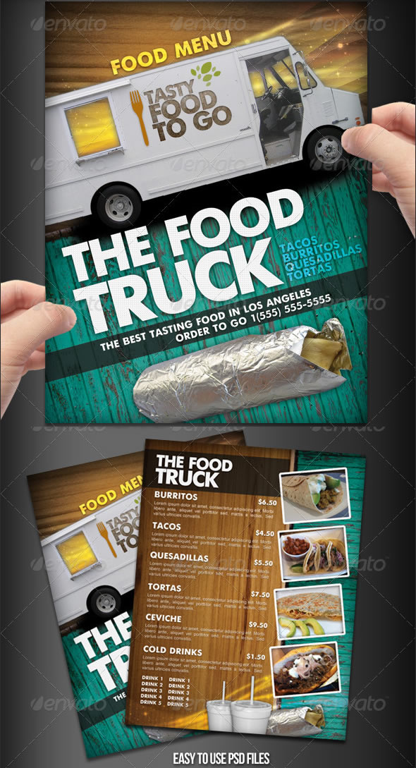 Food Delivery Flyer Template Arts - Arts