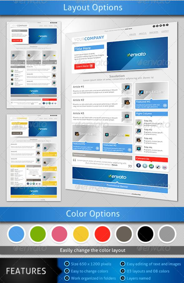 Smart, Customizable Email and Newsletter Templates Entheos - outlook newsletter template
