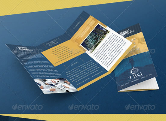 Creative Tri-fold Brochure Design Templates Entheos