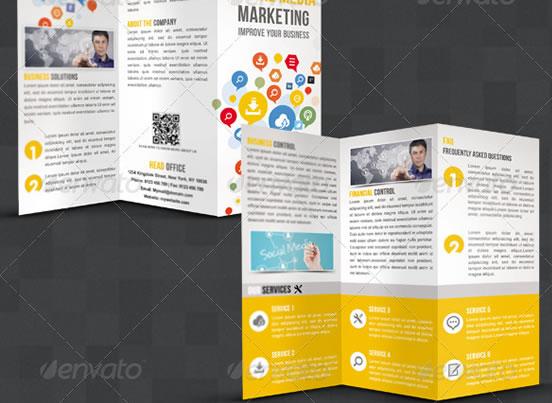 Creative Tri-fold Brochure Design Templates Entheos