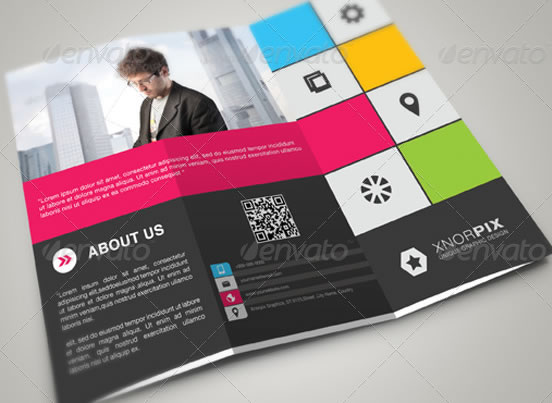 Creative Tri-fold Brochure Design Templates Entheos - modern brochure design
