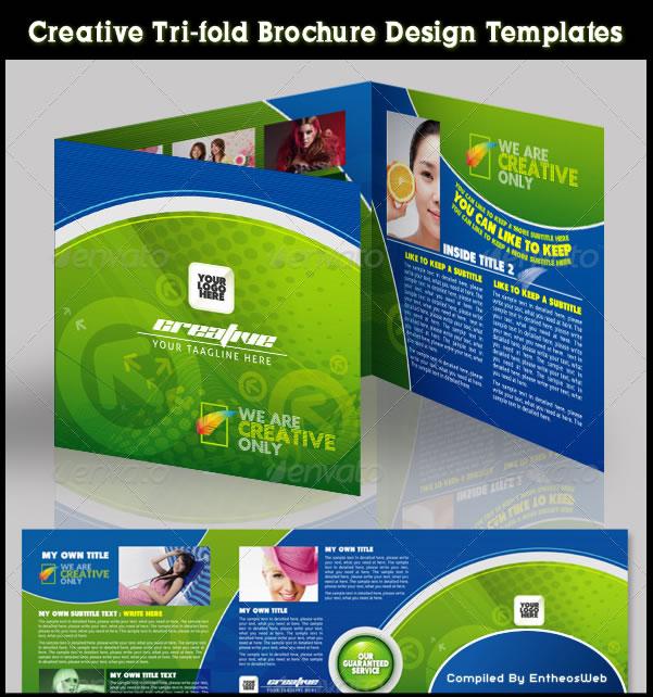 Creative Tri-fold Brochure Design Templates Entheos - tri brochures