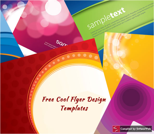 Free Cool Flyer Design Templates Entheos - free flayer design